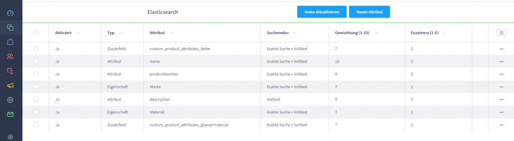 Filter und Suchplugin von Next AG - Konfiguration Elasticsearch